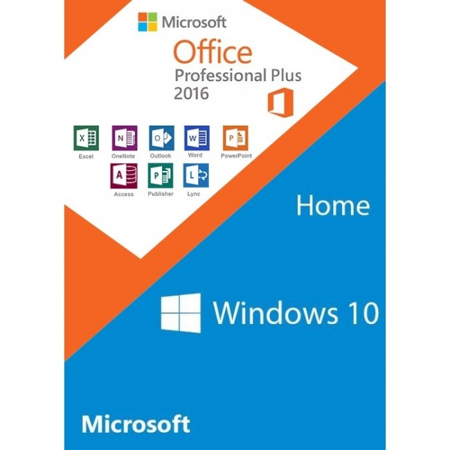 Win 10 Home + Office 2016 Pro Plus
